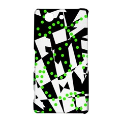 Black, white and green chaos Sony Xperia Z3 Compact