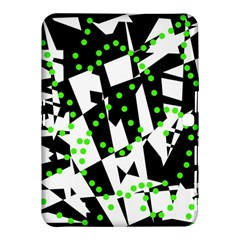 Black, white and green chaos Samsung Galaxy Tab 4 (10.1 ) Hardshell Case