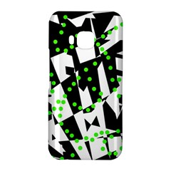 Black, white and green chaos HTC One M9 Hardshell Case