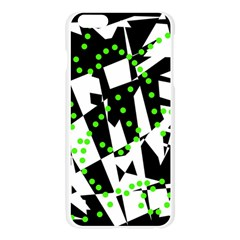 Black, white and green chaos Apple Seamless iPhone 6 Plus/6S Plus Case (Transparent)