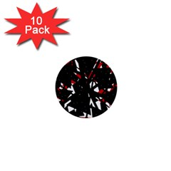Black, red and white chaos 1  Mini Buttons (10 pack)