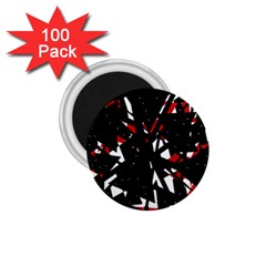 Black, red and white chaos 1.75  Magnets (100 pack)
