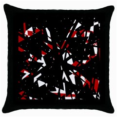 Black, red and white chaos Throw Pillow Case (Black)