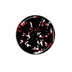 Black, red and white chaos Hat Clip Ball Marker (10 pack)