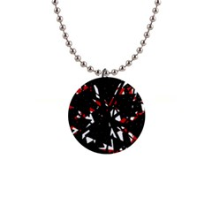 Black, red and white chaos Button Necklaces