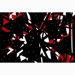 Black, red and white chaos Collage Prints