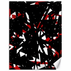 Black, red and white chaos Canvas 18  x 24