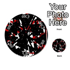 Black, red and white chaos Playing Cards 54 (Round)