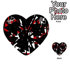 Black, red and white chaos Playing Cards 54 (Heart)