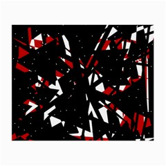 Black, red and white chaos Small Glasses Cloth (2-Side)