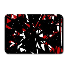 Black, red and white chaos Plate Mats