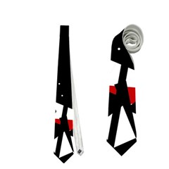 Black, red and white chaos Neckties (One Side)