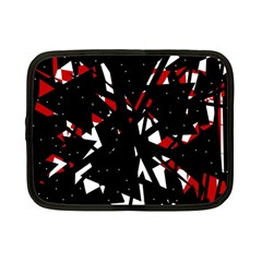 Black, red and white chaos Netbook Case (Small)