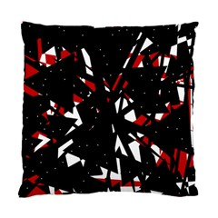 Black, red and white chaos Standard Cushion Case (Two Sides)