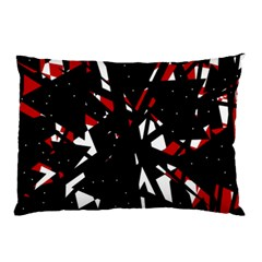 Black, red and white chaos Pillow Case