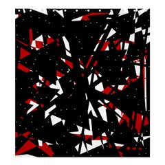 Black, red and white chaos Shower Curtain 66  x 72  (Large)