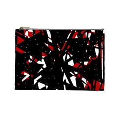 Black, red and white chaos Cosmetic Bag (Large)