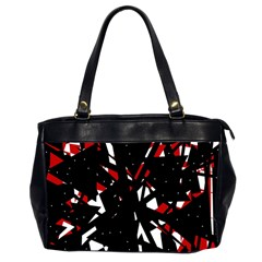 Black, red and white chaos Office Handbags (2 Sides)