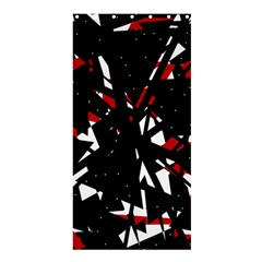 Black, red and white chaos Shower Curtain 36  x 72  (Stall)