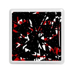 Black, red and white chaos Memory Card Reader (Square)