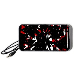 Black, red and white chaos Portable Speaker (Black)