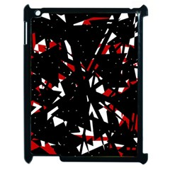 Black, red and white chaos Apple iPad 2 Case (Black)