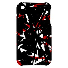 Black, red and white chaos Apple iPhone 3G/3GS Hardshell Case