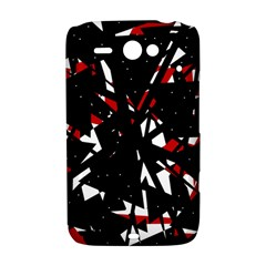 Black, red and white chaos HTC ChaCha / HTC Status Hardshell Case