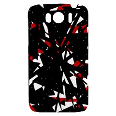 Black, red and white chaos HTC Sensation XL Hardshell Case