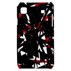 Black, red and white chaos Samsung Galaxy S i9000 Hardshell Case