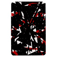 Black, red and white chaos Kindle Fire (1st Gen) Hardshell Case