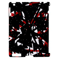 Black, red and white chaos Apple iPad 2 Hardshell Case (Compatible with Smart Cover)