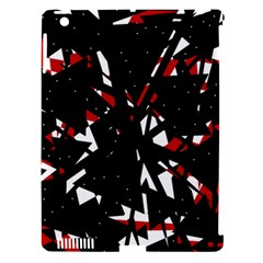 Black, red and white chaos Apple iPad 3/4 Hardshell Case (Compatible with Smart Cover)