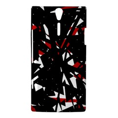 Black, red and white chaos Sony Xperia S