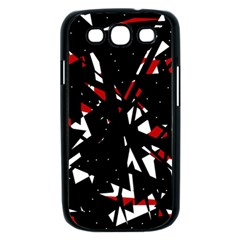 Black, red and white chaos Samsung Galaxy S III Case (Black)