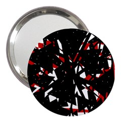 Black, red and white chaos 3  Handbag Mirrors