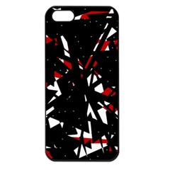 Black, red and white chaos Apple iPhone 5 Seamless Case (Black)