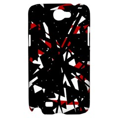 Black, red and white chaos Samsung Galaxy Note 2 Hardshell Case