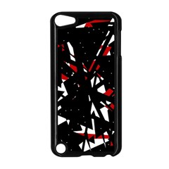 Black, red and white chaos Apple iPod Touch 5 Case (Black)