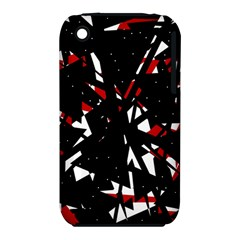 Black, red and white chaos Apple iPhone 3G/3GS Hardshell Case (PC+Silicone)