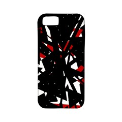 Black, red and white chaos Apple iPhone 5 Classic Hardshell Case (PC+Silicone)