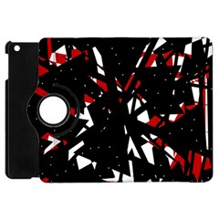 Black, red and white chaos Apple iPad Mini Flip 360 Case