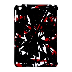 Black, red and white chaos Apple iPad Mini Hardshell Case (Compatible with Smart Cover)