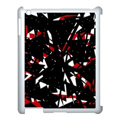Black, red and white chaos Apple iPad 3/4 Case (White)