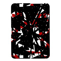 Black, red and white chaos Kindle Fire HD 8.9