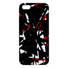 Black, red and white chaos Apple iPhone 5 Premium Hardshell Case