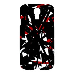 Black, red and white chaos Samsung Galaxy S4 I9500/I9505 Hardshell Case