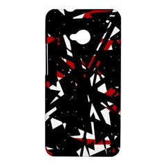 Black, red and white chaos HTC One M7 Hardshell Case