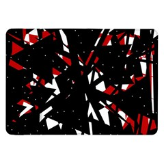 Black, red and white chaos Samsung Galaxy Tab 8.9  P7300 Flip Case