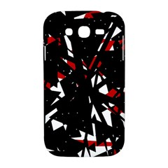 Black, red and white chaos Samsung Galaxy Grand DUOS I9082 Hardshell Case